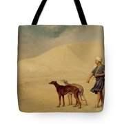 In The Desert Tote Bag by Jean Leon Gerome