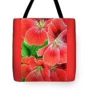 In The Garden. Geranium Tote Bag by Ben and Raisa Gertsberg