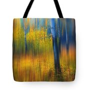 In The Golden Woods. Impressionism Tote Bag by Jenny Rainbow