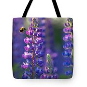 In The Land Of Lupine Tote Bag by Mary Amerman