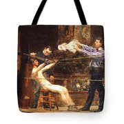 In The Mid Time Detail Tote Bag by Thomas Eakins