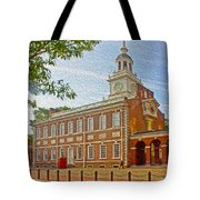 Independence Hall Philadelphia  Tote Bag by Tom Gari Gallery-Three-Photography