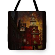 Independence Hall Philadelphia Let Freedom Ring Tote Bag by Jeff Burgess