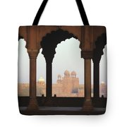 India, View Of Red Fort From Jama Tote Bag by Richard Maschmeyer