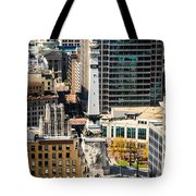 Indianapolis Aerial Picture Of Monument Circle Tote Bag by Paul Velgos