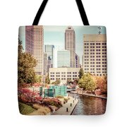 Indianapolis Skyline Old Retro Picture Tote Bag by Paul Velgos