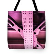 Industrial Metal Purple Tote Bag by Alexander Senin