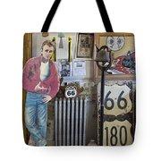 Inside Jackrabbit Trading Post Tote Bag by Priscilla Burgers