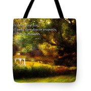 Inspirational - Prosperity - Job 36-11 Tote Bag by Mike Savad