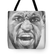 Intensity Lebron James Tote Bag by Tamir Barkan
