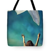 Into The Atmosphere Tote Bag by Laura Fasulo