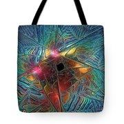 Into The Galaxy Tote Bag by Deborah Benoit