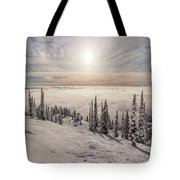Inversion Sunset Tote Bag by Aaron Aldrich