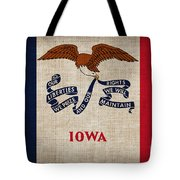 Iowa state flag Tote Bag by Pixel Chimp