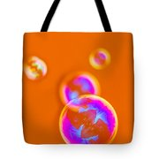 iPhone Case - Orange Bubbles Tote Bag by Alexander Senin