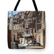 Iran Kandovan Cars And Wires Tote Bag by Lois Ivancin Tavaf