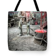 Iron And Brass Foundry Tote Bag by Adrian Evans
