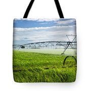 Irrigation on Saskatchewan farm Tote Bag by Elena Elisseeva