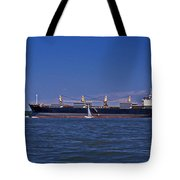 IS BIG REALLY BETTER Tote Bag by Skip Willits
