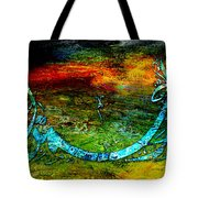 Islamic Caligraphy 005 Tote Bag by Catf