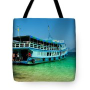 Island Ferry  Tote Bag by Adrian Evans