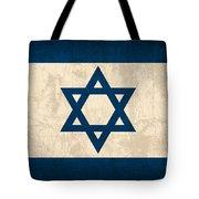 Israel Flag Vintage Distressed Finish Tote Bag by Design Turnpike