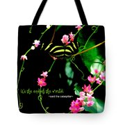 It Is The Beginning Tote Bag by Poetry and Art