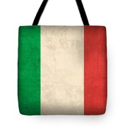 Italy Flag Vintage Distressed Finish Tote Bag by Design Turnpike
