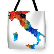 Italy - Italian Map by Sharon Cummings Tote Bag by Sharon Cummings