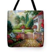 Italyan Villa With Garden  Tote Bag by Regina Femrite