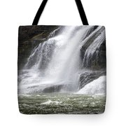 Ithaca Falls On Fall Creek - Mountain Showers Tote Bag by Christina Rollo