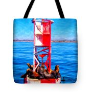 It's Lonely At The Top Tote Bag by Michael Pickett