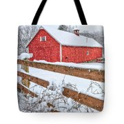 It's Snowing Square Tote Bag by Bill  Wakeley