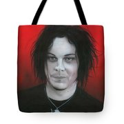 'jack White' Tote Bag by Christian Chapman Art