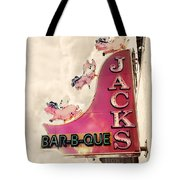 Jacks Bbq Tote Bag by Amy Tyler
