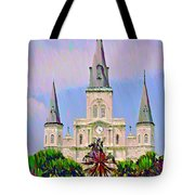 Jackson Square In The French Quarter Tote Bag by Bill Cannon
