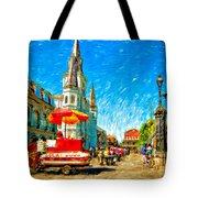 Jackson Square Painted Version Tote Bag by Steve Harrington
