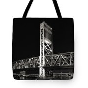 Jacksonville Florida Main Street Bridge Tote Bag by Christine Till