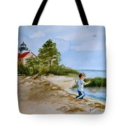 Jacob At East Point Tote Bag by Nancy Patterson