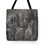 Jacob Goeth Into Egypt Tote Bag by Gustave Dore