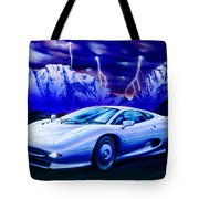Jaguar 220 Tote Bag by Garry Walton