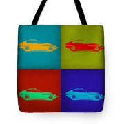 Jaguar E Type Pop Art 1 Tote Bag by Naxart Studio