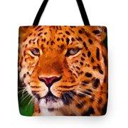 Jaguar Tote Bag by Michael Pickett