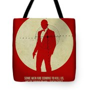 James Poster Red 3 Tote Bag by Naxart Studio