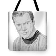 James Tiberius Kirk Tote Bag by Thomas J Herring