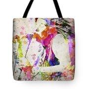 Janis Joplin Portrait Tote Bag by Aged Pixel