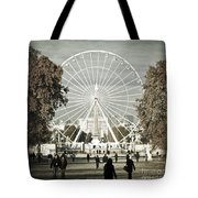 Jardin Des Tuileries Park Paris France Europe  Tote Bag by Jon Boyes