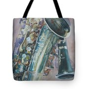 Jazz Buddies Tote Bag by Jenny Armitage