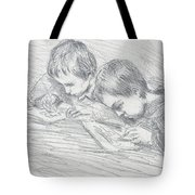 Jean Pierre Hoschede And Michel Monet Tote Bag by Claude Monet