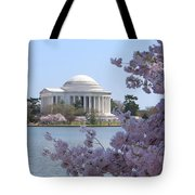 Jefferson Memorial - Cherry Blossoms Tote Bag by Mike McGlothlen